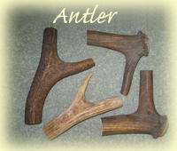 antler walking stick