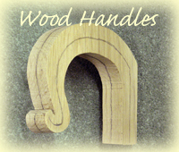 wood handles walking stick